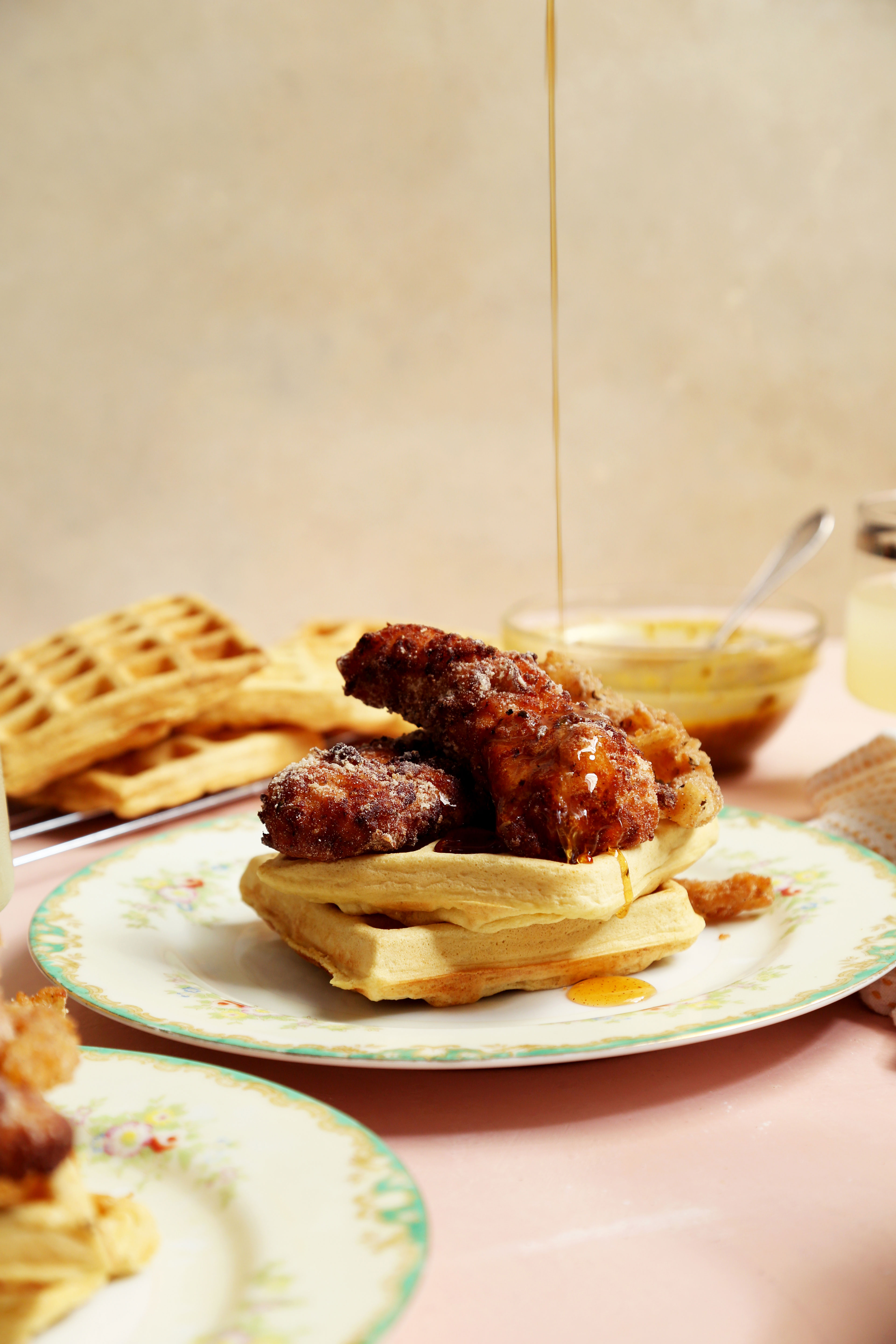 Gluten-Free and Chickpea Chicken and Waffles