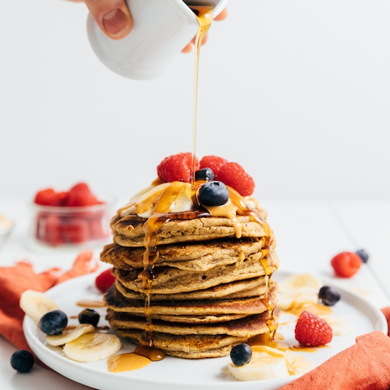 1-Bowl Peanut Butter Protein Pancakes