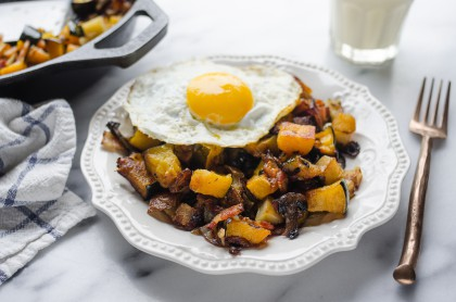 Roasted Squash and Bacon Hash