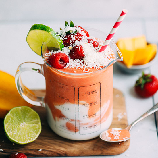 Gingery Mango & Berry Smoothie