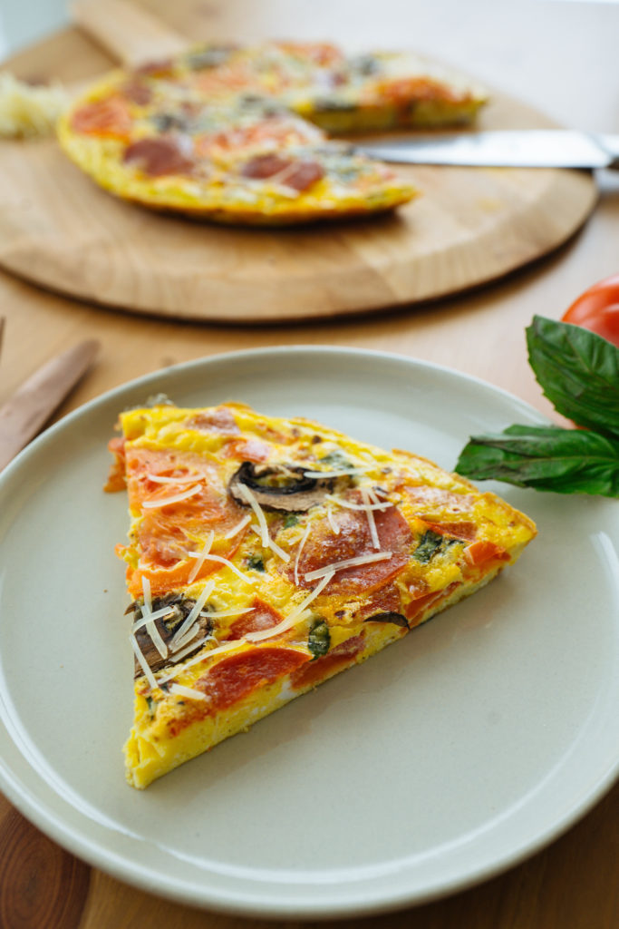 Pepperoni Pizza Frittata | 30 Minute Meal!